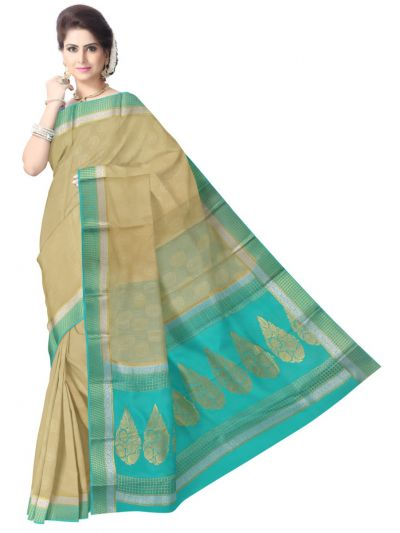 Kyathi Mysore Silk Cream Color Saree
