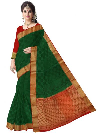 Kyathi Mysore Silk Green Saree