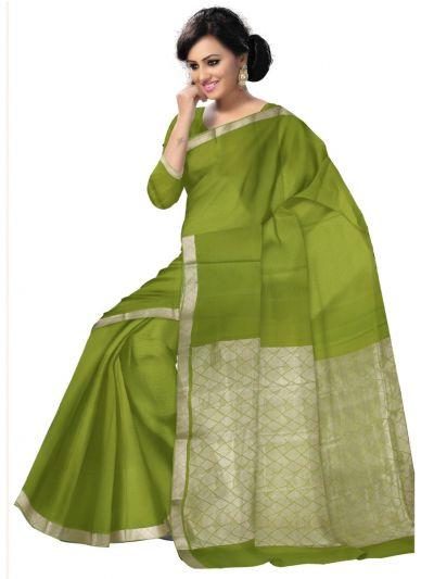 Kyathi Mysore Silk Green Saree