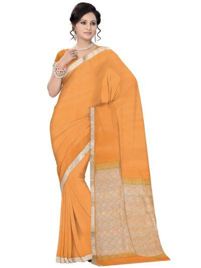 Kyathi Mysore Silk Orange Color Saree