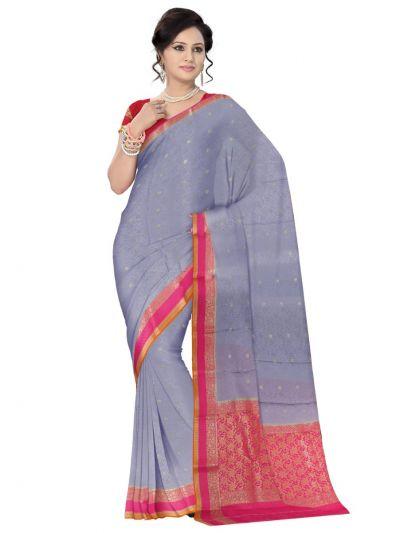 Kyathi Mysore Silk Grey Saree