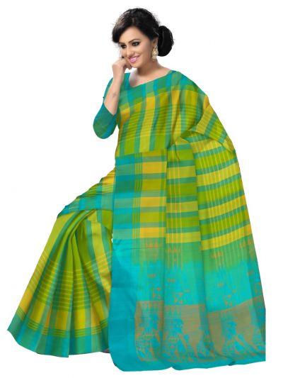 Kanmanie Soft Silk Green Saree