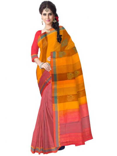 Vipanji Multicolor Soft Silk Saree