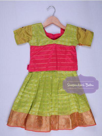 Sivasankari Babu Girls Silk Pavadai Set - LJA7712218