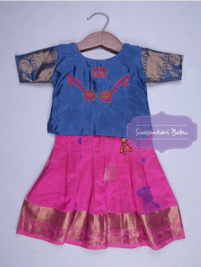 Sivasankari Babu Girls Silk Pavadai Set - Age 2 Years