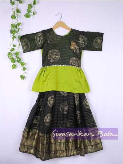 Sivasankari Babu Girls Silk Pavadai Set - LJA7712248