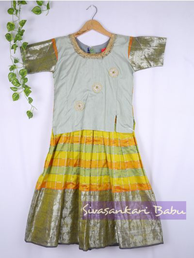Sivasankari Babu Girls Silk Pavadai Set - LJA7712250