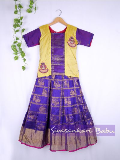 Sivasankari Babu Girls Silk Pavadai Set - LJA7712255