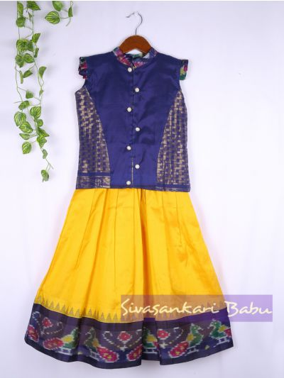 Sivasankari Babu Girls Silk Pavadai Set - LJA7712262
