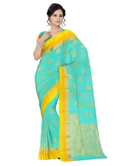 Chamelli Exclusive Kora Cotton Saree - LJB8005294