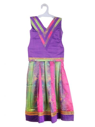 Girls Ready Made Art Silk Pavadai Set - TUPPP11