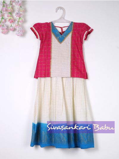 Sivasankari Babu Girls Fancy Pavadai Set - LJB8388006