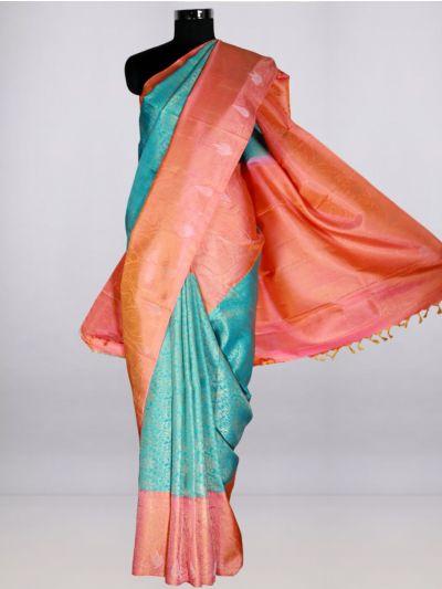 Vivaha  Pure Kanchipuram Handloom Silk Saree - Multi