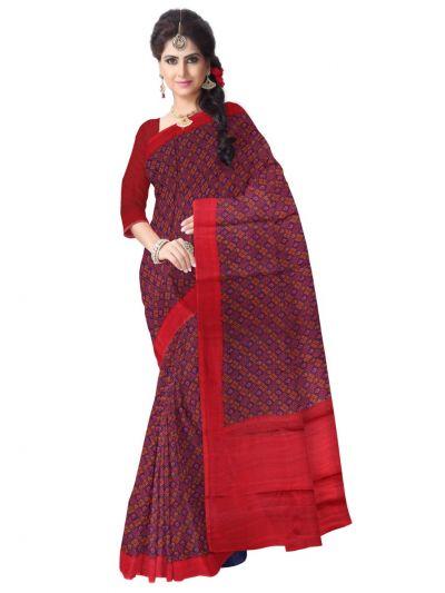 Fancy Printed Design Cotton Saree - LJB8737180