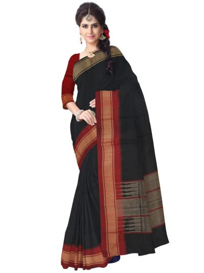 Jute Black Silk Saree
