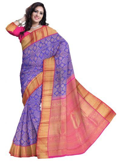 Vivaha Wedding Silk Violet Saree