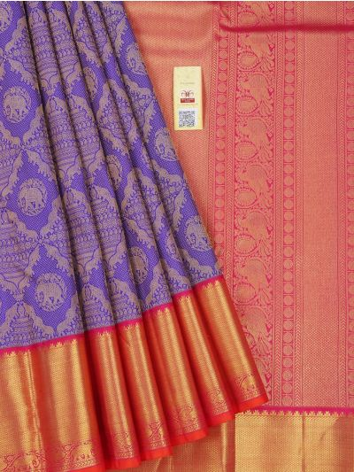 LJC9092305-Vivaha Wedding Silk Violet Saree