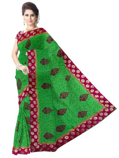 Sahithyam Embroider With Stone Work Designer Saree