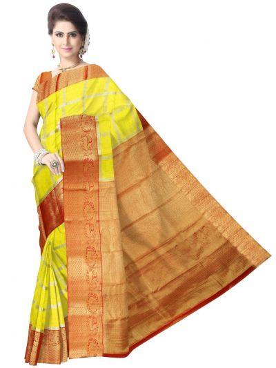 4a6b40331f60a Vivaha Kanchipuram Pure Silk Saree - LJD0011602