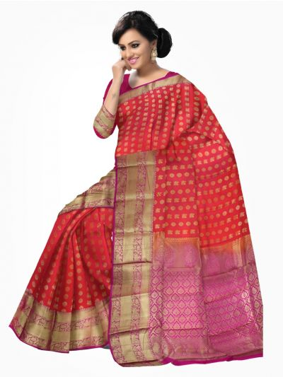 Traditional Silk Saree Red Color - LJD0428397