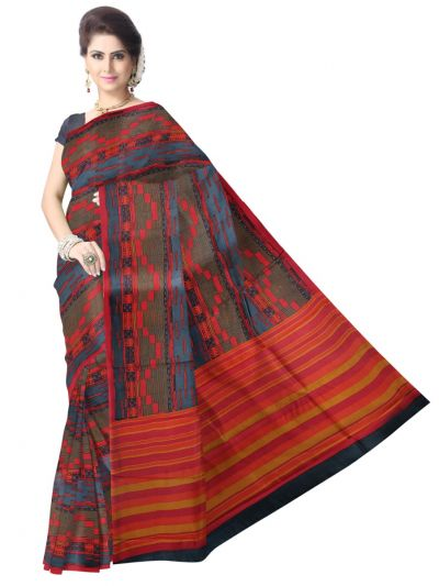 Fancy Dupion Printed Design Silk Saree - LJD0545473