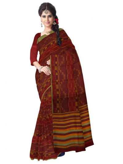 Fancy Dupion Printed Design Silk Saree - LJD0545485