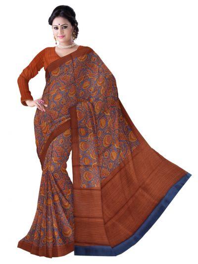 Sahithyam Exclusive Printed Dupion Silk Saree