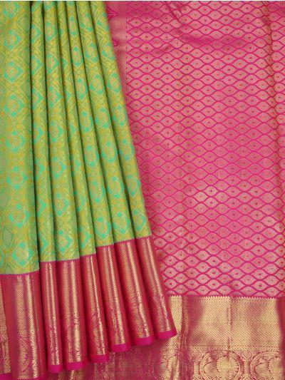 LJD0827771-Vivaha Exclusive Goddess Pure Kanchipuram Silk Saree