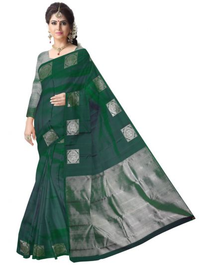 Vivaha Wedding  Silk Saree with Silver jari