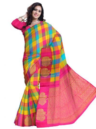Estrila Handloom Multicolor Silk Saree
