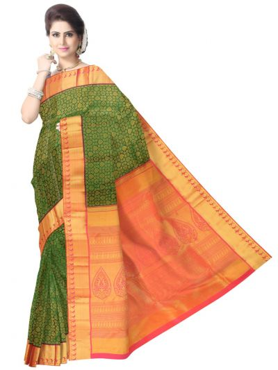 Viavha Kanchipuram Pure Silk Saree - LJE1183017