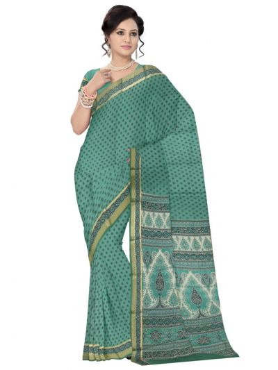 Sahithyam Exclusive Printed Dupion Silk Saree