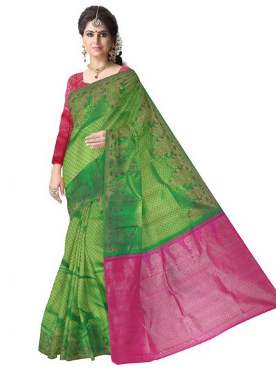 Vivaha Green Kanchipuram Silk Saree