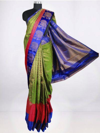 Vivaha Green Pure Kanchipuram Silk Saree