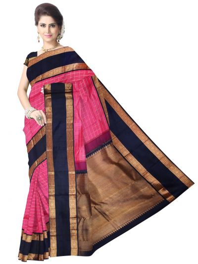 Vivaha Bridal Pink Silk Saree
