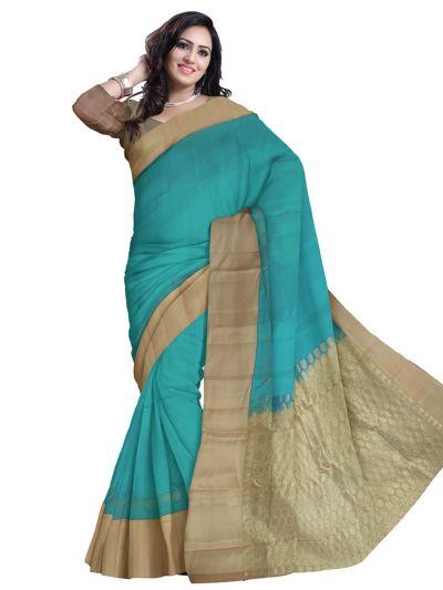 Cyan Soft Silk Saree