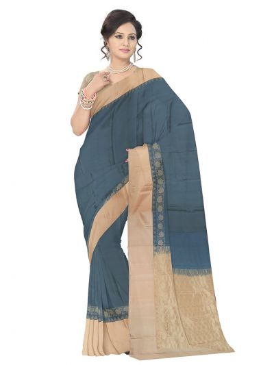 Gray Soft Silk Saree