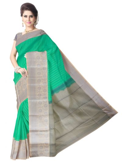 Uppada Traditional Silk Saree - Green