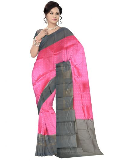 Uppada Traditional Silk Saree - Pink