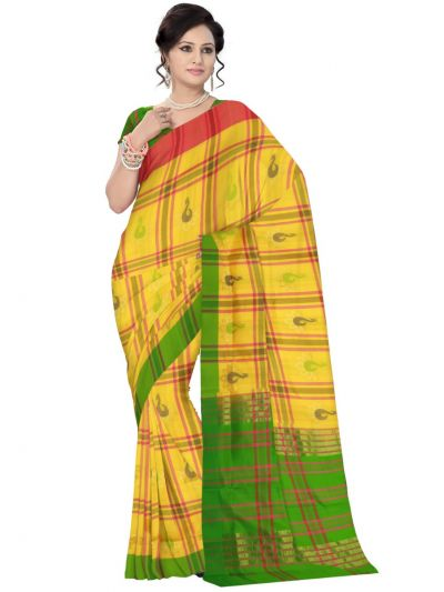 Yellow Kanmani Soft Silk Saree