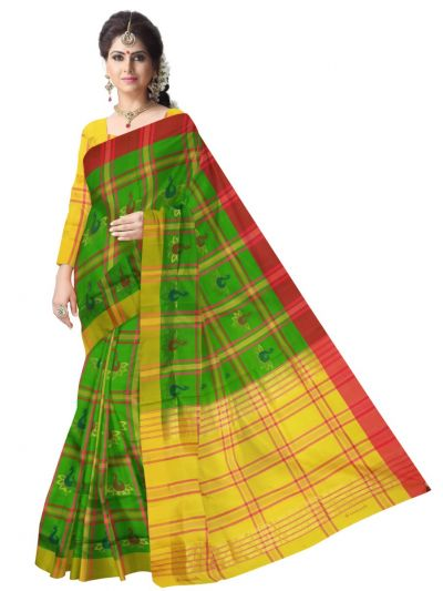 Green Kanmani Soft Silk Saree