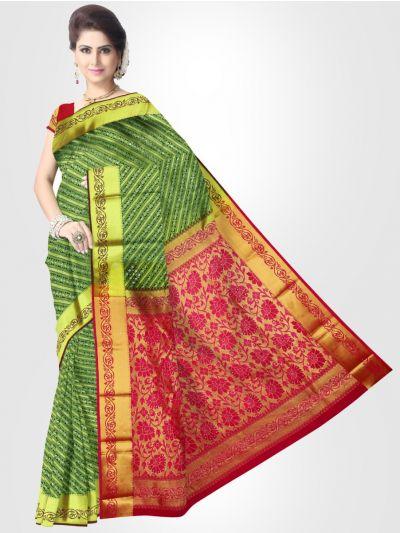 Gift Art Silk Saree – Green – LKB3184250