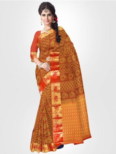 Traditional Silk Saree – Maroon – LKB3208566