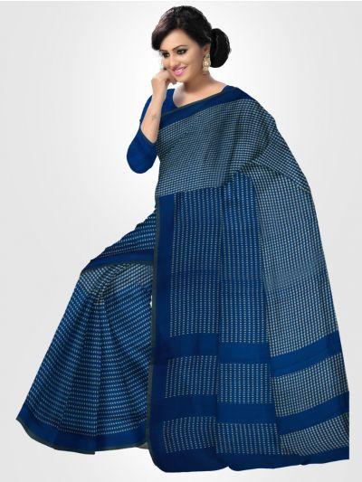 Dupion Silk Saree - Blue - LKB3353882