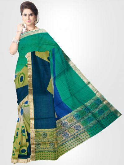 Dupion Silk Saree - Multi - LKB3353885