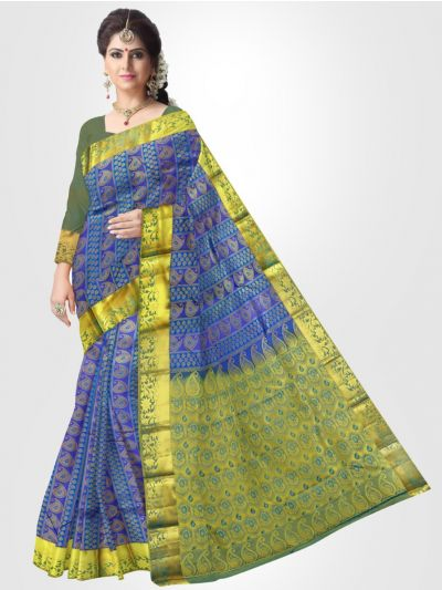 Bairavi Traditional Silk Saree - Blue - LKB3439273