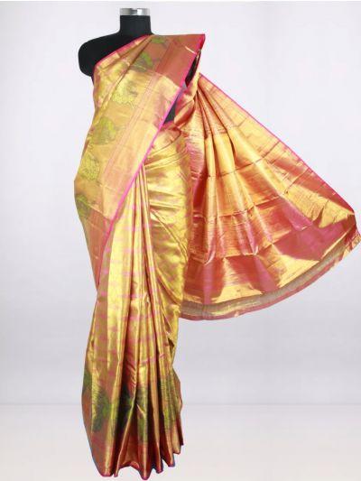 Vivaha Goddess Pure Silk Saree - Gold