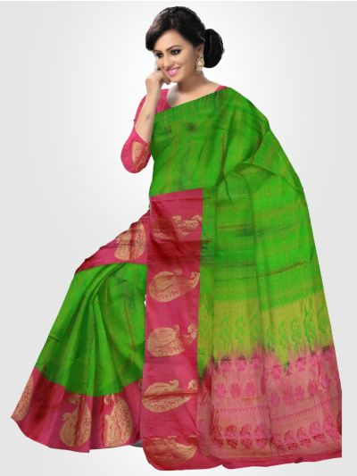 Gift Art Silk Saree - Green - LKC3637978