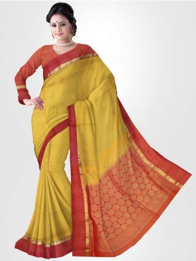Soft Silk Saree - Yellow - LKC3718513