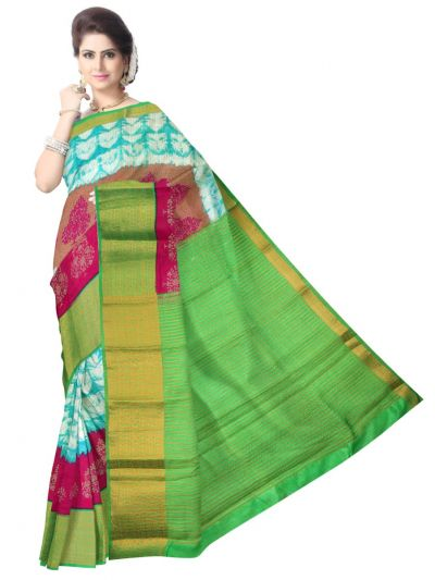 Fancy Multi Color Printed Cotton Saree - LKC3944190